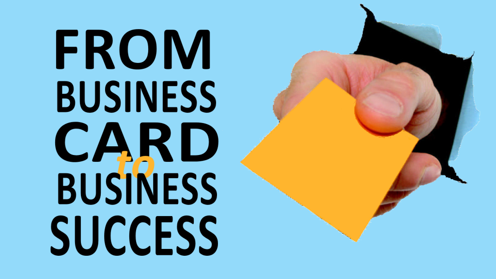 Online course from business card to business success graphic