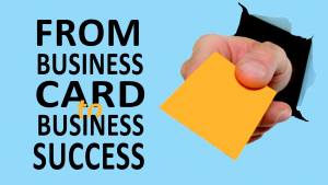 Online course from business card to business succcess graphic