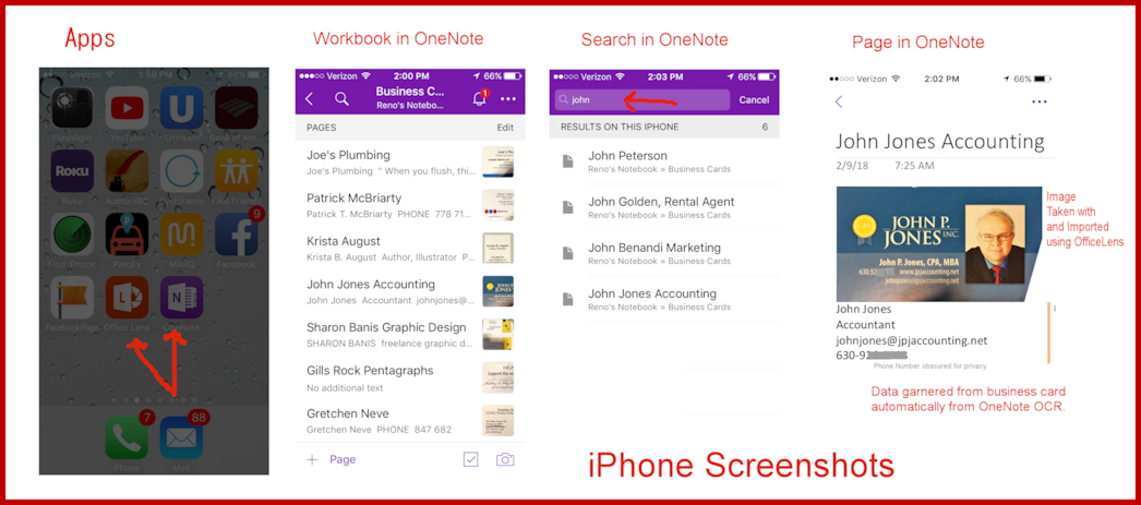 Organize Your Business Cards with OneNote – Business Card to